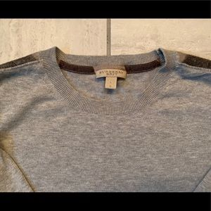 Burberry Brit Sweater Large L Men Check Grey